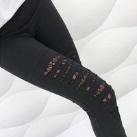 ingrosso buchi neri di ghette-Pantaloni estivi stile moda donna Leggings in pizzo sexy Leggings strappati strappati alla caviglia Pantaloni Leggings neri XXL Plus