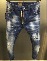 jeans sólidos venda por atacado-2019SS NOVO ESTILO MODA SOLID estilo clássico JEANS SLIM FIT Motociclista DENIM HOMENS DO DESENHISTA JEANS EUROPEU padrão americano TAMANHO