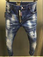jeans de estilo americano para hombres al por mayor-2019SS nueva moda del estilo sólido Estilo vaqueros clásicos SLIM FIT motorista de la motocicleta DRIL DE LOS HOMBRES DE LOS VAQUEROS DE DISEÑO EUROPEO AMERICAN STANDARD TAMAÑO