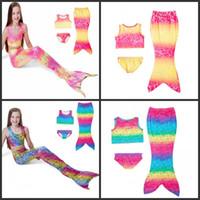 kızlar bikini yüzme şortları toptan satış-Mermaid Kız Bikini Yelek Şort Etek Çocuk Yüzme Suit 2 Renkler Yüksek Kalite Yaz Sahil Güzel Popüler Mayo 22bjD1