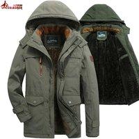 forros de bolsillo de piel al por mayor-hombres de la chaqueta de invierno gruesa revestimiento de lana con múltiples bolsillos de negocios ocasional parkas de algodón con capucha de piel de la nieve hombre de la capa rompevientos