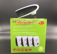 ingrosso trimmers di plastica-4 pz / set Versione Avanzata Elettronico Gatto Ultrasuoni Anti Mosquito Insetto Repeller Rat Mouse Scarafaggio Pest Respingi Repellente