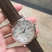 relógios suíços de couro venda por atacado-Swiss top marca de luxo 2019 moda diamante pulseira de couro de quartzo dos homens relógios data casual business designer masculino relógios de pulso montre homme