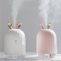 nebulizador al por mayor-Alta calidad 220 ML ultrasónico humidificador de aire Aroma aceite esencial difusor para el coche del hogar USB Fogger Mist Maker con lámpara de noche LED