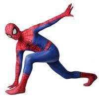 Adult Kids Child Spiderman Peter Parker Halloween Superhero 3D Muscle Cosplay  Costume Party Zentai Jumpsuit Catsuit Bodysuit be680e1bc