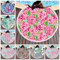 Wholesale tapestry tassels for sale - Group buy Bohemia Beach Towel Microfiber Round Tassels Wall Hanging Tapestries Floral Picnic Rugs Beach Mats Outdoor Gadgets Styles CCA11747