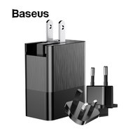 Wholesale black uk adapter online – Baseus Port USB Charger in1 Triple EU US UK Plug A Travel Wall Charger Adapter for iPhone Samsung Xiaomi Phone USB