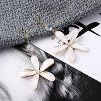 koreanische luftfrauen großhandel-Original Persönlichkeit Schmuck Wie ein Hauch von frischer Luft Mode Fünf-Blatt-Blume Ohrringe Korean Edition Eardrop Ohrringe für Frauen Korea