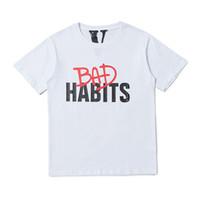 schlechtes mannt-shirt großhandel-19ss nagelneue Mannfrauen schlechte Gewohnheiten V Druckpalmenengel kurzärmelige T-Shirts T-Stück einsame kanye westliche zufällige T-Shirts Straßenfurcht vor Gottt-shirt