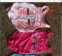 einteilige badebekleidung für kinder großhandel-Ins bester verkaufender einteiliger Babyoverall-Badebekleidungsdruckbuchstabe-Badeanzug des hohen Endes scherzt Strandkleidung 2T-8T A-L1