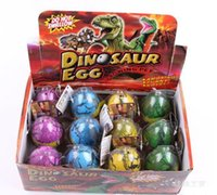 ingrosso uovo dino magico-Dinosaur Egg 5 * 7cm Larger Dinosaur Magic Hatching gonfiabile Aggiungi Water Growing Dino Eggs Bambino Kid Toy