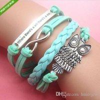bracelets d'emballage indien achat en gros de-Bracelets de charme bracelets sangles bijoux indiens à la main déclaration Statements bracelets en cuir Pulseras Wrap Infinity Bracelets