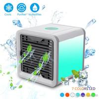 dispositivo de ventilador al por mayor-USB Artic Air Cooler Fan Personal Space Cooler Ventilador de escritorio portátil Mini dispositivo de aire acondicionado Cool Calmante Viento para oficina en casa