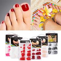 gefälschte nägel farben großhandel-13 Farben Sommer Französisch Candy falsche Zehen Nail Art Tipps natürliche bunte gefälschte Zehennägel künstliche Full Cover Nail Art Dekorationen