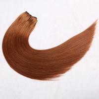ingrosso capelli umani originali-Il la cosa migliore 10 capelli umani di treccia completa cuticola capelli umani vergini brasiliani originali # 30 tessuto diritto dei capelli umani