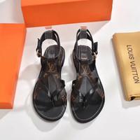 la chaussure design fait achat en gros de-2019 Sandales de designers de marque de luxe Les sandales Gladiator sont en cuir vintage. Les sandales pour dames Chaussures pour femmes