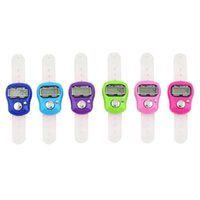 Wholesale mini electronic counter resale online - Mini Stitch Marker And Row Finger Counter LCD Electronic Digital Tally Counter For Sewing Knitting Weave Tool Random Color