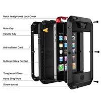 ingrosso custodia in alluminio iphone-Caso telefono in alluminio Heavy Duty Protezione Doom armature in metallo per iPhone Pro 11 Max XR XS MAX 6 7 8 6S Plus X 5S 5 antiurto copertina