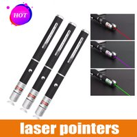 lazer işaretçi piller toptan satış-5 MW Yeşil Kırmızı Mor Lazer Kalem Güçlü Lazer Pointer Presenter Uzaktan Lazer Pil Olmadan Yanan Lazer Lazer 1000 m