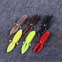 çok bölümlü lures toptan satış-5.5 cm Kabarcık Karides Balıkçılık Lure 6 Renkler Çok Bölüm Açık Yumuşak Balık Yemler Gerçekçi Lures 0 18fc E1