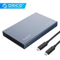 ingrosso hard disk orico-ORICO 2.5 Enclosure ORICO 2.5 '' Tipo C-lega di alluminio di caso HDD USB3.1 Gen2 Hard Drive Support 7 millimetri 9,5 millimetri Con 50 centimetri di C