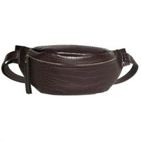 Wholesale waist bag patterns for sale - Group buy Crocodile Pattern Pu Leather Waist Bags For Women Solid Color Funny Packs Ladies Belt Bags For Phone Female Funny Pack