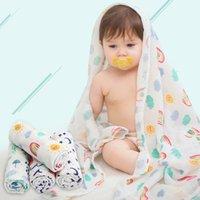 ingrosso stampa musulmana di cotone-1 pz cotone coperta per bambini mussola swaddle telo da bagno morbido coperta neonato neonato stampa avvolgere passeggino coperto