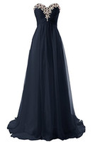 Wholesale Beaded Sweetheart Neckline Chiffon Long Bridesmaid Dresses Lace Up Floor Length Party Dress New Prom Gowns