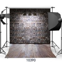 Wholesale vinyl backdrops bricks for sale - Vinyl Custom Photography Backdrops Prop Brick wall floor theme Photo Studio Background JLT