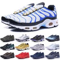 zapatos colores hombres amarillos al por mayor-2018 nueva de 60 colores al por mayor de alta calidad de la venta caliente de los hombres del TN running calzado zapatillas de deporte los zapatos del tamaño 7-12