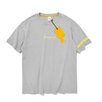 tişört temel toptan satış-Temel Tee Homme Erkek Giyim 2019 moda Yaz erkekler O-Boyun pamuklu tişört kısa kollu t-shirt Streetwear