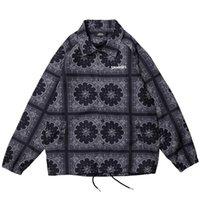patrones de la chaqueta de la vendimia al por mayor-2019 Chaqueta de hip hop para hombre Streetwear Bordado de patrón vintage Harajuku Chaqueta rompevientos retro Chaquetas de otoño de moda Abrigo