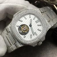 Wholesale butterfly platinum resale online - Manxing diamond watch manual chain tourbillon movement diameter MM MM18K platinum super luminous double press butterfly button