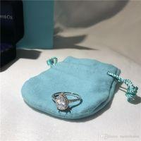 berühmter verlobungsring großhandel-T Soleste Birnenform Ringe Luxus Diamant Ring Liebe berühmte Marke Designer Schmuck 925 Sterling Silber Verlobung Ehering vorhanden