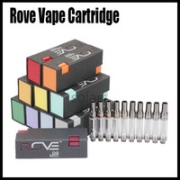 Wholesale retail oil resale online - Newest Rove Vape Cartridge ml ml Ceramic Coil Thread Thick Oil Vape Carts Flavors with Retail Box Package High Quality