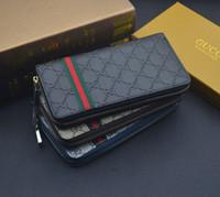 дизайн упаковки бумажника оптовых-2019 новые дамы длинный бумажник многоцветный дизайн пояса монета кошелек карты пакет оригинальная коробка дамы классический мешок на молнии