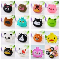Wholesale designer jelly candy bag resale online - Mini Cartoon Key Wallet Bag Women Silicone Coin Purse Candy Color Lovely Animals Jelly Change New Coin Bag Party Gifts RRA2759