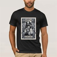 ingrosso mens stampate magliette in linea-Shirt Tee Stampato per i Mens 2019 Alien Predator Classic Vintage Miglior T shirt per uomo Hop T-shirt Online Store