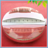 lente de vidro convexa venda por atacado-Freeshipping 2 PCS 100mm Duplo Convexo Lente Lente De Vidro Óptico Comprimento Lente Grande Lupa