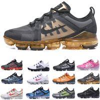 en iyi indirim koşu ayakkabıları toptan satış-2019 Run Utility Erkekler Koşu Ayakkabı En İyi Kalite Siyah Antrasit Beyaz Gümüş Indirim Ayakkabı Yansıtan Spor Sneakers Boyutu 40-45
