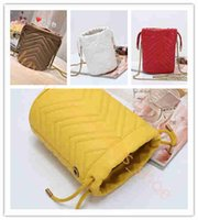 Wholesale white girls shopping for sale - Group buy 2020 hot sale purse Bucket bag Shopping bags Handbags Cylindrical wallet A Original leather mini shoulder bag