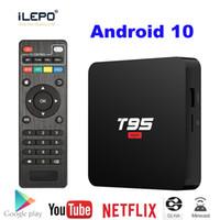 Wholesale android os smart tv box resale online - T95 Super Android OS k GHz Wifi Smart TV Box Allwinner H3 GB RAM GB ROM HD OTT Media Player