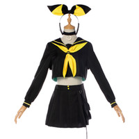 Wholesale sailor woman costume online - Vocaloid MAGICAL MIRAI th Anniversary Live Vocal Concert Kagamine Rin Sailor Suit Tops Dress Uniform Cosplay Costumes
