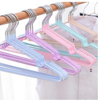 Wholesale closet hooks resale online - 10pcs Stainless Steel Clothes Hanger Non Slip Space Saving Clothes Hangers With Hook Closet Organizer Drying Racks