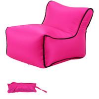 aufblasbare sofa möbel großhandel-10 Farben Tragbare Aufblasbare Luft Schlafsofa Liegestuhl Matratze Faul Aufblasbare Strandbett Outdoor Camp Möbel