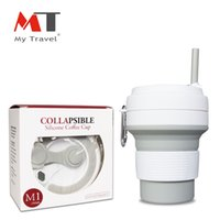 Wholesale boiling cup for sale - Group buy Hot New Folding Silicone Coffee Cup Portable Coffee Mug Foldable Travel Cup Suitable For Boiled Water And