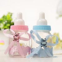 12pcs Girl Boy Baby Shower Decorations Chocolate Candy Bottle Baptism Favors Christmas Halloween Party Gifts Box Plastic Case
