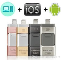 32 gb de memoria flash unidades de memoria al por mayor-Buena calidad USB Flash Drive para iPhone X / 8/7/7 Plus / 6 / 6s / 5 / SE / ipad OTG Pen Drive HD Memory Stick 8GB 16GB 32GB 64GB 128GB Pendrive usb 3.0