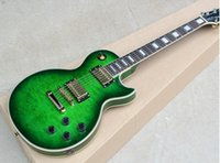 Wholesale electric guitars bodies resale online - 2019 new Green body Electric Guitar with Pickups Rosewood Fretboard Gold hardware white binding can be customized