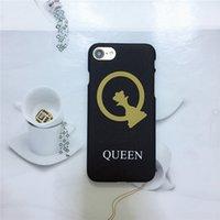 ingrosso regina iphone-Custodia per telefono smerigliato creativo di moda per gli amanti con lettere King e Queen 2 stili per Iphone 5 / 5S / SE 6 / 6S Plus 8plus 7/8 7/8 Plus